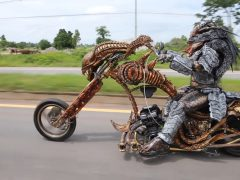 gezellige motorfiets