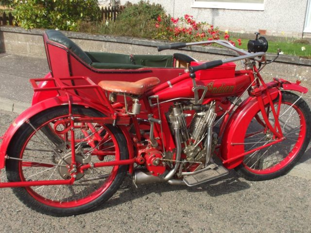 Indian 7hp Big Twin Motorcycle Combination 1915