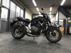 Yamaha MT-07 met Akrapovic-uitlaat