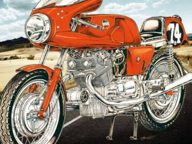 MotorRAI in Miniatuur - Laverda 750 Competition van Heller